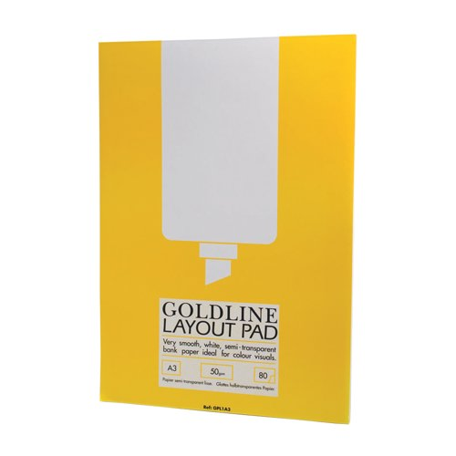 Goldline Layout Pad Bank Paper 50gsm80 Pages A3 Ref GPL1A3 Each
