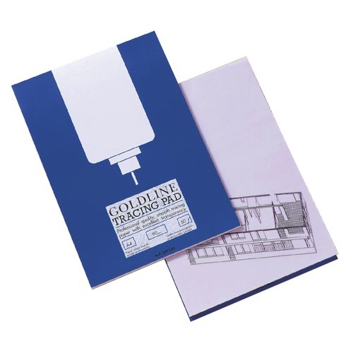 Goldline Professional Tracing Pad 90gsm50 Sheets A4 Ref GPT1A4Z Each