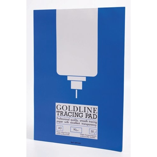Goldline Professional Tracing Pad 90gsm50 Sheets A3 Ref GPT1A3Z Each
