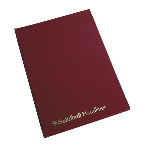 Guildhall Headliner Book 38 Series 6 Cash Column 80 Pages 95gsm Ref 38/6Z Each