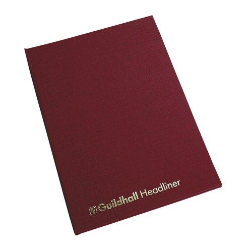 Guildhall Headliner Book 38 Series 10 Cash Column 80 Pages 95gsm Ref 38/10 Each