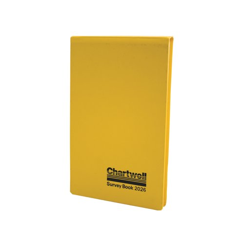Chartwell Field Survey Book Weather Resistant 130x205mm 80 Leaf Yellow Ref 2026Z Each