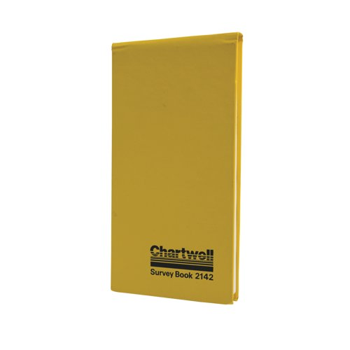 Chartwell Dimension Survey Book Weather Resistant 106x205mm 80 Leaf Yellow Ref 2142 Each