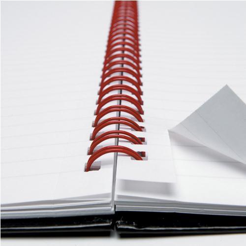 Black n' Red A5+ Matt Wirebound Notebook 140 Pages Ruled Feint 846354906