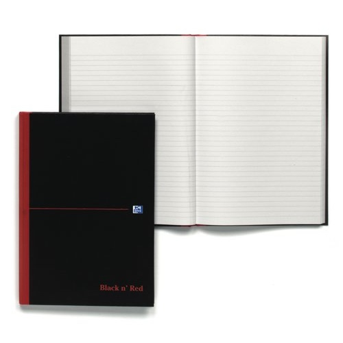 Black n' Red A4 Notebook Casebound 90gsmRuled 384 Pages Ref 100080473 Each