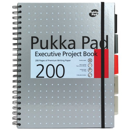 Pukka Metallic Executive Project Book A4 Assorted Packed 3 Ref 6970-MET