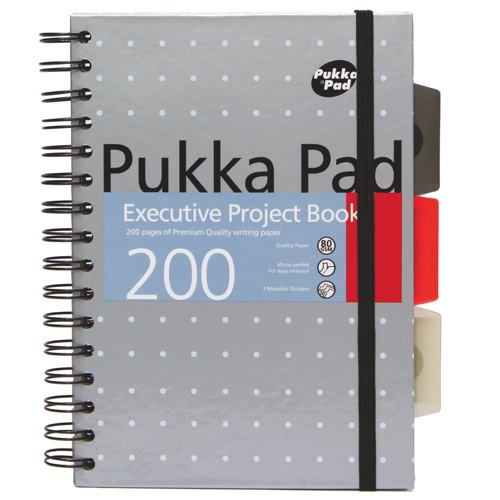 Pukka Metallic Executive Project Book A5 Assorted Packed 3 Ref 6336-MET