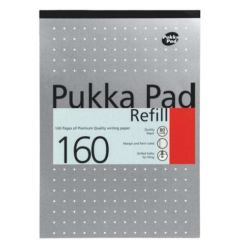 Pukka Metallic Refill Pads A4 160 Pages Assorted Packed 6 Ref REF80/1