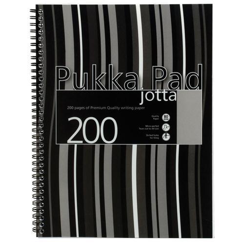 Pukka Pad Jotta Pad A4 Polypropylene Cover Black Stripe Pk3