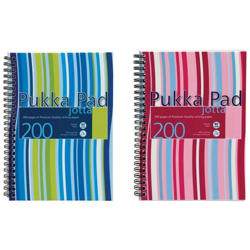 Pukka Pad Wirebound Jotta Pad A5+ Polypropylene Cover 200 Pages JP021