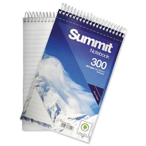 Summit 125x200mm Spiral Shorthand Notebook 150 Leaf Ruled Feint (Pk 5) 846200083