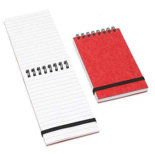 Summit Red Elastic Band Notebook 76x127mm Wirebound 192 Pages Ruled Feint (Pk 10) 100080058