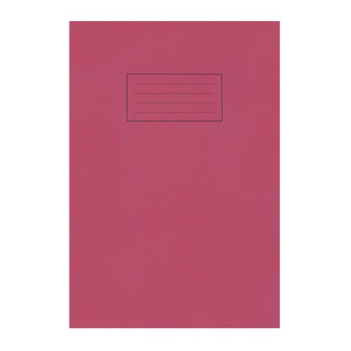 Silvine Exercise Book A4 Feint And Margin Red EX107