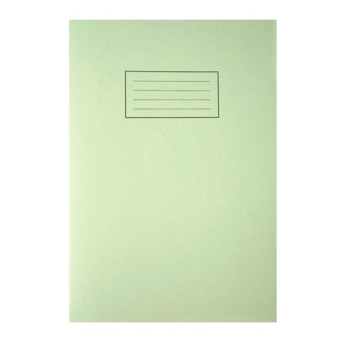 Silvine Exercise Book A4 Feint And Margin Green EX110