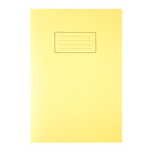 Silvine Exercise Book A4 Feint And Margin Yellow EX109