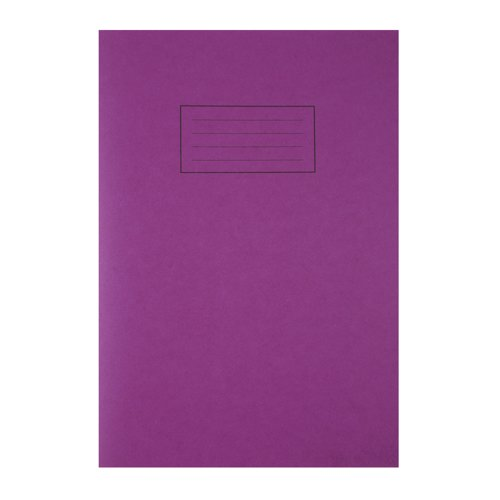 Silvine Exercise Book A4 Feint And Margin Purple EX111