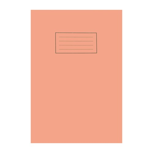 Silvine Exercise Book A4 5mm Squares Orange EX113