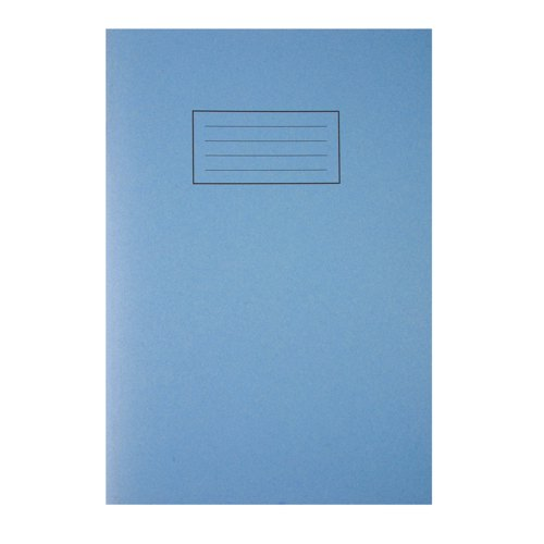 Silvine Exercise Book A4 Plain Blue EX114