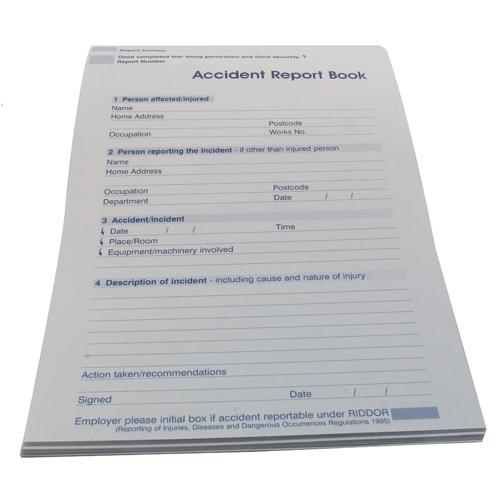 Astroplast Accident Report Book A5 5401009 5401015