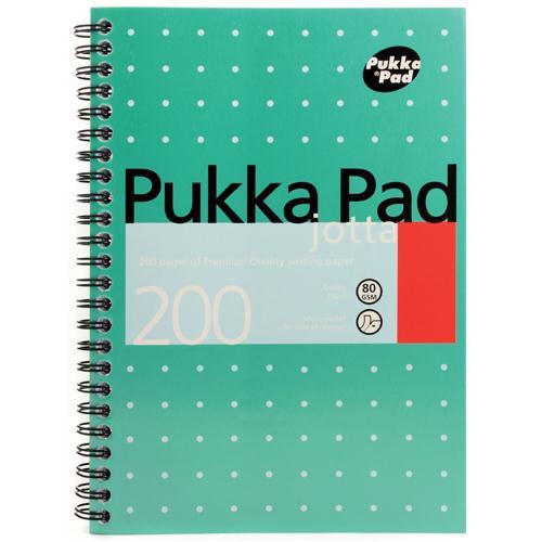 Pukka Pad Metallic A5 Writing Pad Pack of 3