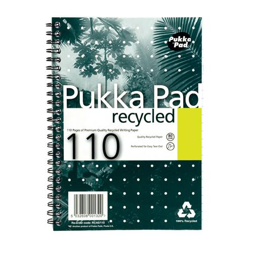 Pukka Recycled A5 Pad 80g 110pp Packed 3