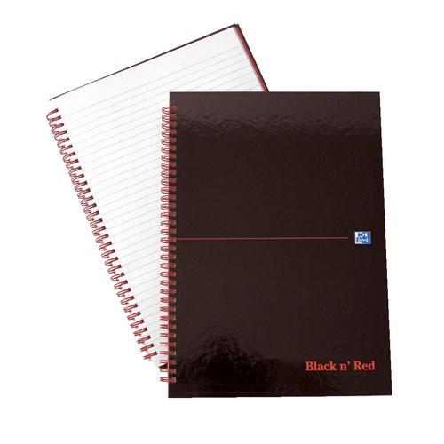 Black n' Red Wirebound Hardback Notebook A4 Feint 846350115