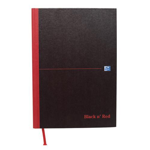 Black n' Red Casebound Hardback Notebook A4 Smart Ruled 100080428