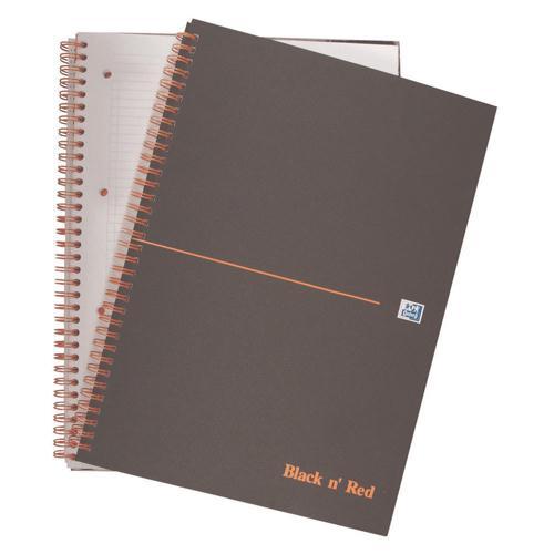 Black n' Red A4+ Matte Smart Notebook Feint 846364903