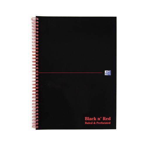 Black n' Red Wiro Notebook A4 Feint 846350152