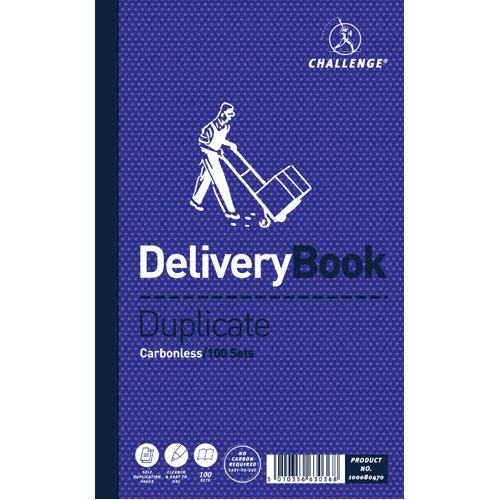 Challenge Delivery Book Duplicate Carbonless 100 Sets 210x130mm Pk 5 100080470