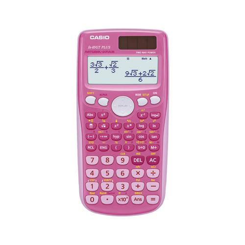 Casio Scientific Calculator Twin-Powered Pink FX-85GTPLUSPk-SB-UH