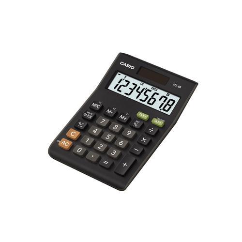 Casio 8-digit Tax/Currency Calculator Black MS-8B-S-EH