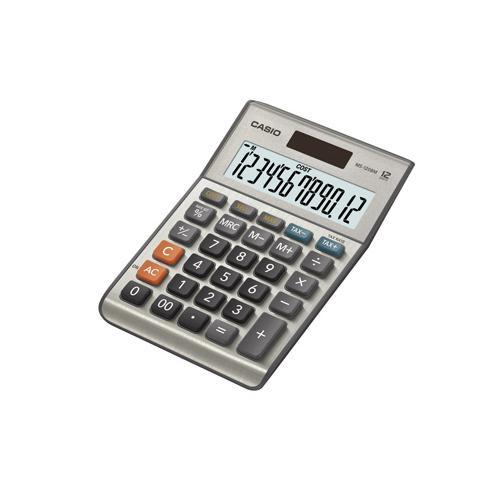 Casio 12-digit Cost/Sell/Margin/Tax Calculator Silver MS-120BM
