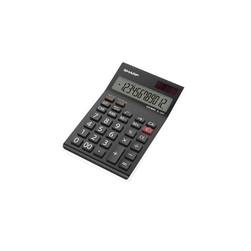 Sharp Black EL-124AT Desktop Calculator (Pk 1) EL124ATWH