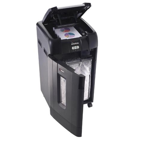 Rexel Auto+ 750X Cross Cut Shredder Black 2103750