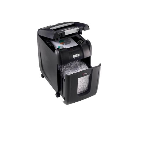 Rexel Auto+ 200X Cross Cut Shredder Black 2103175