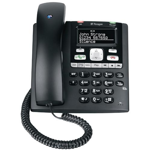 BT Paragon 650 Corded Phone with Answer Machine Black 032116