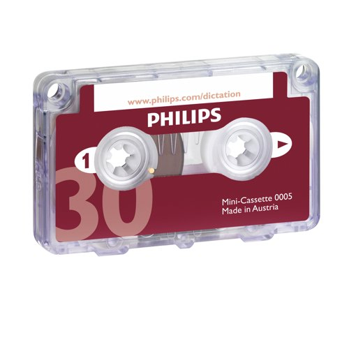Philips LFH0005 Mini Cassette 30 Minutes Packed 10 Ref LFH0005
