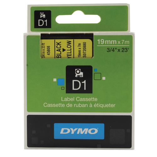 Dymo 2000/5500 Tape 19mm Black/Yellow 45808 S0720880