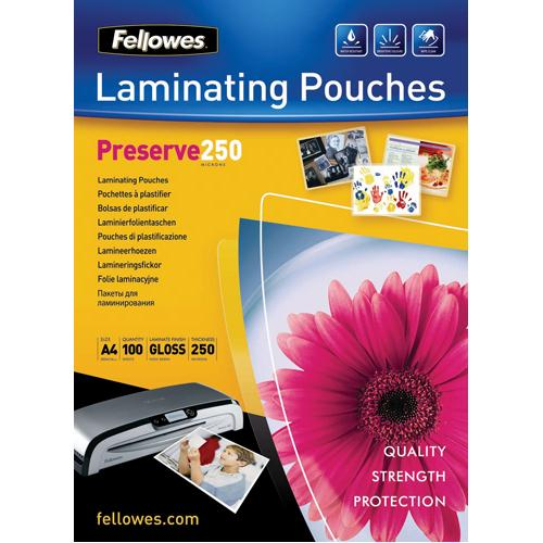 Fellowes Laminating Pouch A4 500micron Preserve 54018