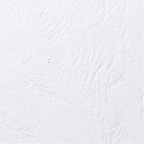 Acco GBC A4 Binding Covers 250gsm Textured Leathergrain Window White Pk 50 46715U