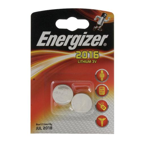 Energizer Lithium 2016/CR2016 Batteries Pack of 2 REF 626986
