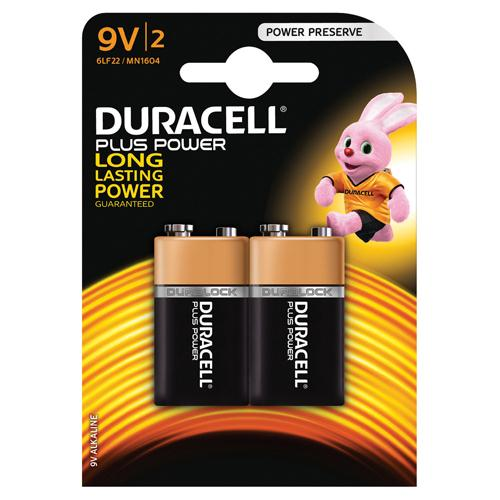 Duracell Plus Battery 9V Pk 2 81275459