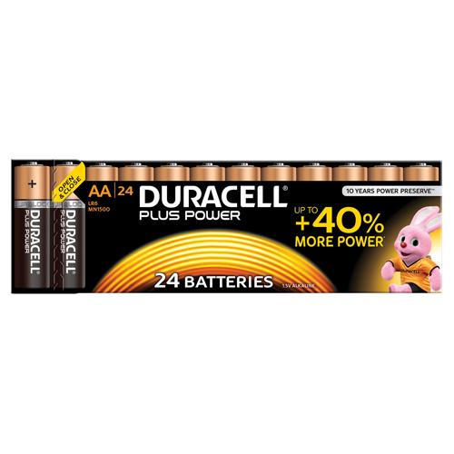 Duracell Plus AA Batteries Pack of 24