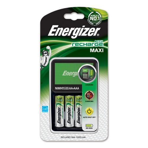 Energizer Maxi Battery Charger with 4 AA Batteries REF 633151