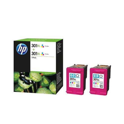 HP Ink Cartridge 301XL Cyan/Magenta/Yellow Ref D8J46AE 330 Pages