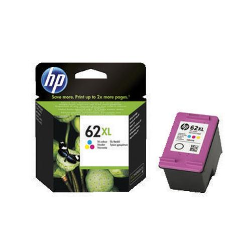 HP Ink Cartridge 62XL Cyan/Magenta/Yellow Ref C2P07AE 415 Pages