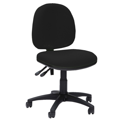 Pyramid Medium Back Operator Chair Asynchro Black Ref PYR16BLK Each
