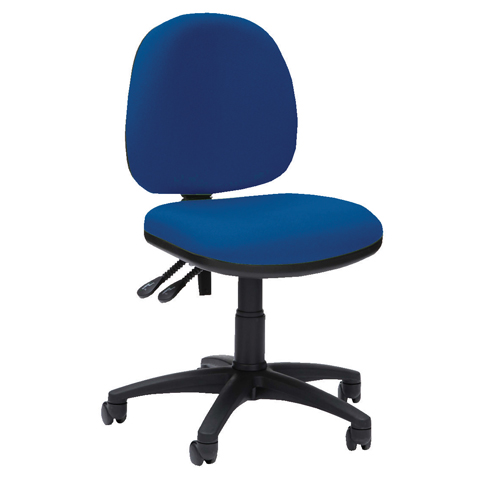 Pyramid Medium Back Operator Chair Asynchro With Height Adjustable Arms Ref PYR16PYRHABLUE Each