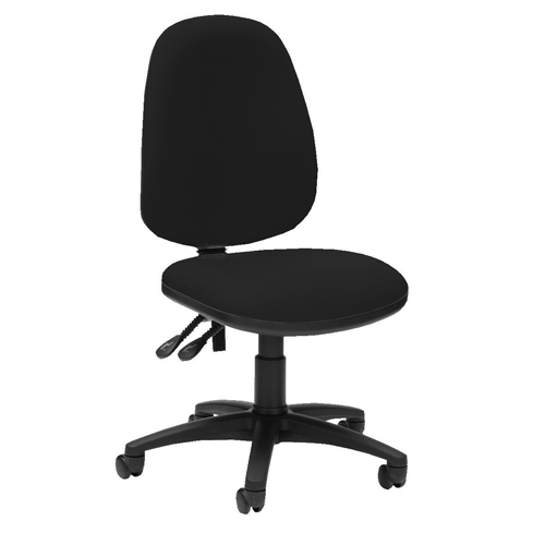 Pyramid High Back Operator Chair Asynchro Black Ref PYR26BLK Each